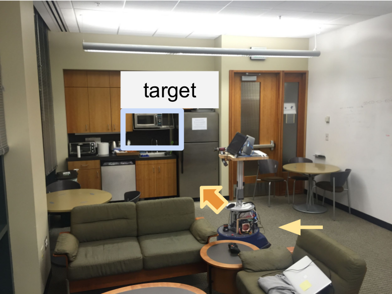Target-driven visual navigation in indoor scenes using deep reinforcement learning